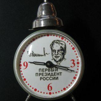 Часы будильник ОЧЗ Президент России Ельцин !!! РАРИТЕТ !!!