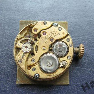 Старинные часы механизм Laco 2xG 411 позолота