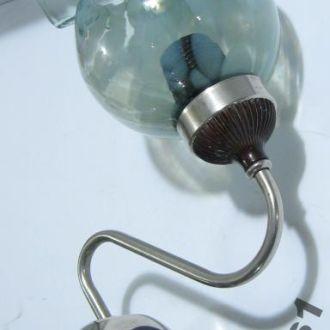 Бра Настенный светильник СССР художественное стекл
