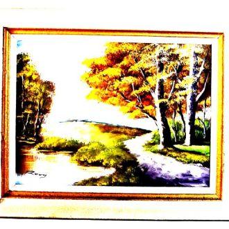 Картина на холсте.Масло. Голландия.Подпись автора.