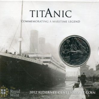 Олдерни 5 фунтов 2012 BU Буклет Титаник