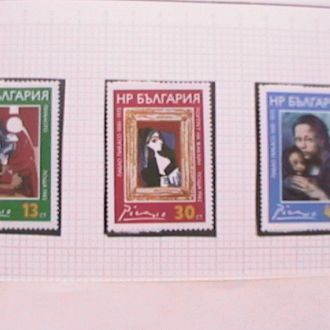 Болгария 1982 MNH творчество Пикассо 1 бл + 3 м