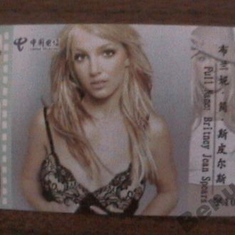 Тел. карточка Китай Бритни Спирс - 3