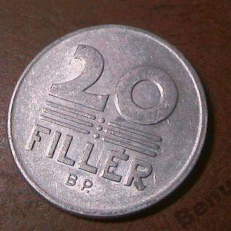 Венгрия с 1 грн 20 филеров 1974
