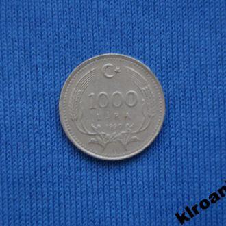 Турция 1000 лир 1990 г