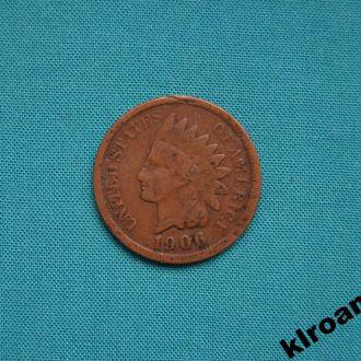 США 1 цент 1906 г ИНДЕЕЦ