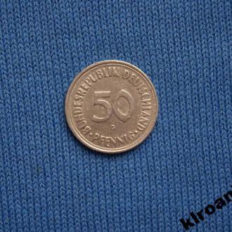 Германия 1950 г  50 пфенингов  G
