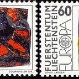 Лихтенштейн 1975 цветы живопись Европа Септ ** о
