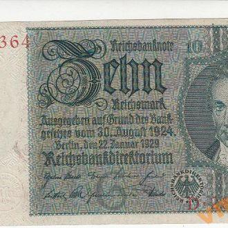 Германия 10 марок 1929 год