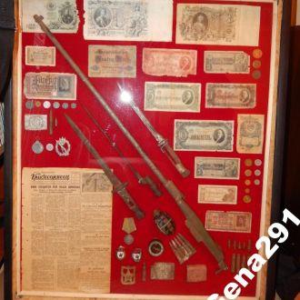 Для музея стэнд коллаж ОРИГИНАЛ 80*97 под стеклом.