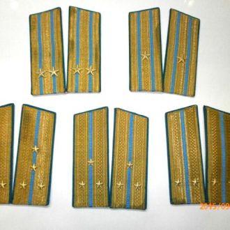 Погоны парадные 5 пар офицерские ВВС.