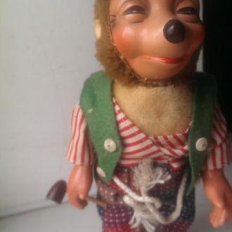 М Игрушка кукла механический ежик папье-маше СССР