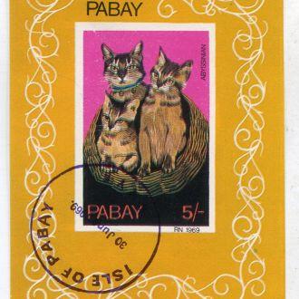 Мэн 5 фунтов 1959 Кошки Спецгашение