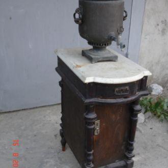 Самоварный стол  дерево мраморная плита царизм