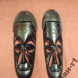 африка эбеновое дерево маска пара маски