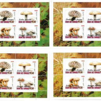 Коморы 2008 грибы флора  MNH