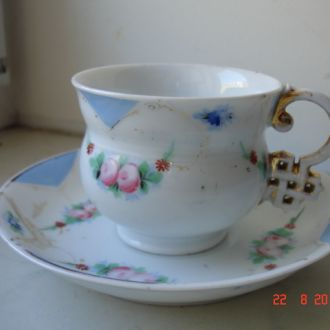 Чайная пара Кузнецов в дулево 1880год