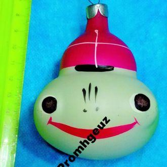 Новогодняя елочная игрушка. Лягушка, жабка. стекло