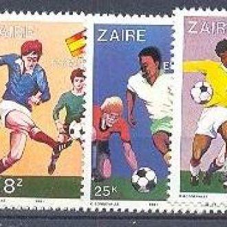 Заир 1981 спорт футбол ЧМ ** о