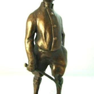 статуэтка Мальчик наездник  бронза жокей.Доставка бесплатно !