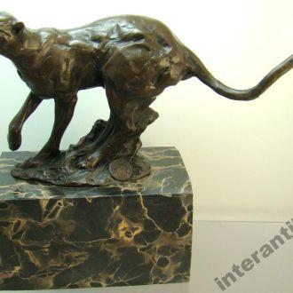 статуэтка Пантера Леопард Пума бронза.Доставка бесплатно !