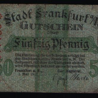 Германия нотгельд 50 пфенингов 1917 г