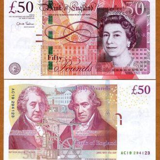Англия.Великобритания  50 фунтов  новые..СУПЕРЦЕНА