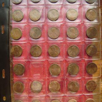 США 1 цент 1975-2008 см прим.