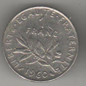 Франция 1 франк 1960 г