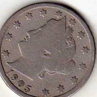 США 5 центов 1905г