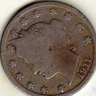 США 5 центов 1911г