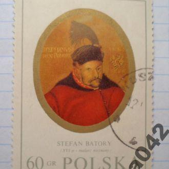 Марка почта Польша 1970 Король Стефан Баторий