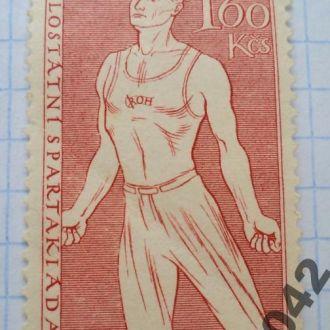 Марка почта Чехословакия 1955 Спартакиада Спорт