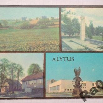 Открытка СССР 1984 Литва виды города Алитус