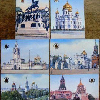 Календарики Несохранившиеся памятники Москвы 6шт
