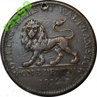 АНГЛИЯ, Уолтемстоу 1 пенни 1812 года