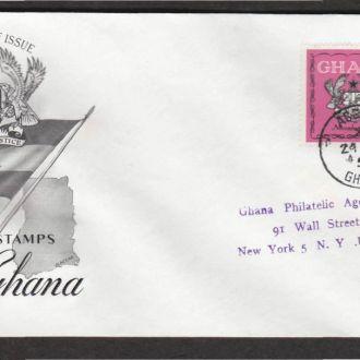 Гана 1959 ВИЗИТ ПРИНЦА ФИЛИПА ГЕРБ ФЛАГ КПД Mi.68