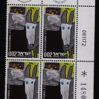 Израиль сцепка 4 марки живопись