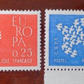 Франция,1961гМ№1363/64-0.4евро