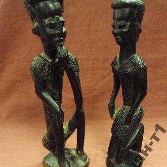 африка эбеновое дерево африканцы пара