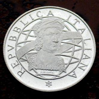 200 лир Италия 1989 РЕДКАЯ !!! PROOF!!! серебро