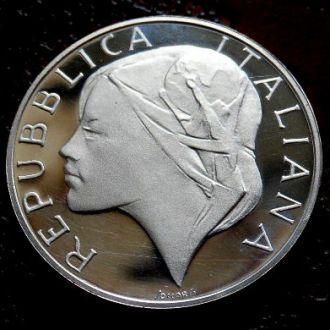 500 лир Италия 1990 РЕДКАЯ !!! PROOF!!! серебро