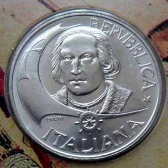 500 лир Италия  РЕДКАЯ!!! состояние BU!!! серебро