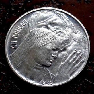 500 лир Ватикан состояние UNC !!! РЕДКАЯ серебро