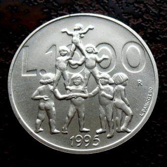 1000 лир Сан Марино 1995 BU !!! РЕДКАЯ !!!  серебро