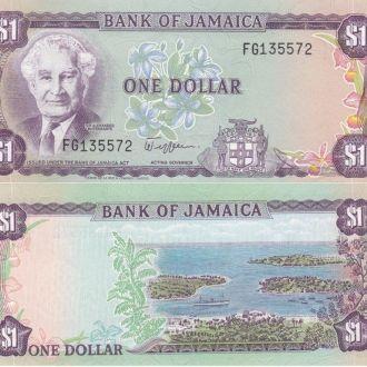 Jamaica Ямайка - 1 Dollar 1982 aUNC p 64a  JavirNV