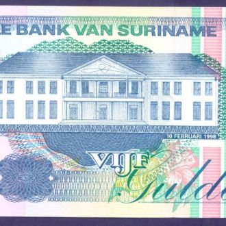 Боны Америка Суринам 5 гулденов 1998 г.
