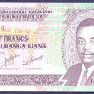 Боны Африка Бурунди 100 франков 2010 г.