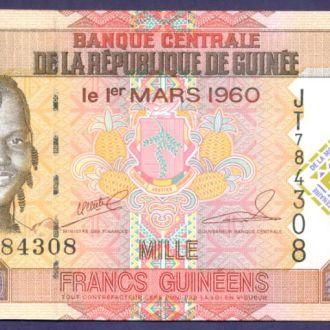 Боны Африка Гвинея 1000 франков 2010 г.