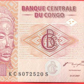 Боны Африка Конго 50 франков 2007 г.
